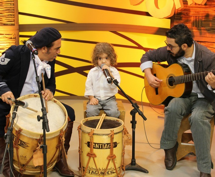 Ernesto Fagundes, Santiago Fagundes e Paulinho Fagundes (Foto: Nice Sordi/RBS TV)