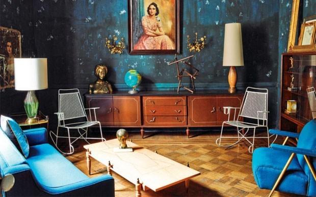 Sala azul: 16 ideias para apostar no tom (Foto: Reprodução)