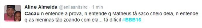 Internauta reclama de Mara Claudia (Foto: Reprodução Internet)