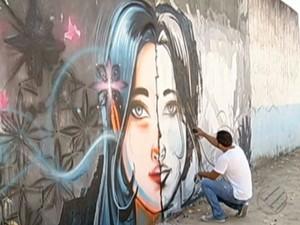A arte do grafite ganha apreciadores no município de Marabá, sudeste do Pará. (Foto: Reprodução/TV Liberal)