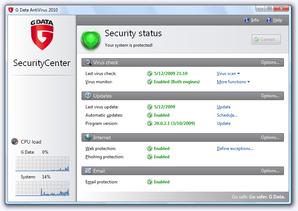 Interface GData Antivirus