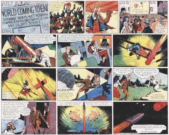 Primeira página da primeira aventura de Flash Gordon, de 1934 (Foto: Reprodução)