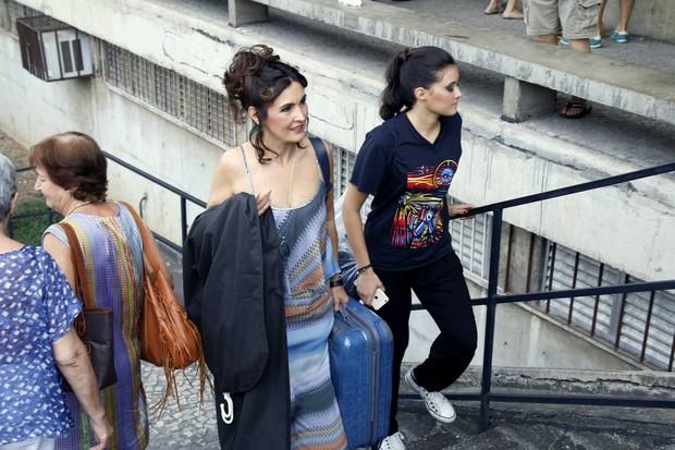 Fátima Bernardes com a filha, Beatriz (Foto: Daniel Pinheiro/AgNews)