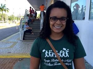 Potiguar Sayonara rezende aprovou tema da redação do Enem 2015 (Foto: Renato Vasconcelos/G1)