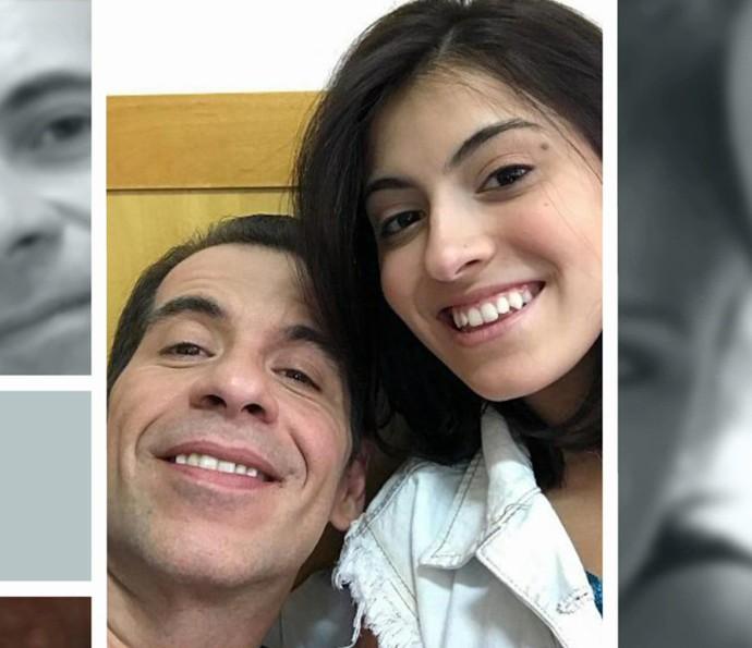 Leandro Hassum conta que é um pai carinhoso com Pietra (Foto: TV Globo)
