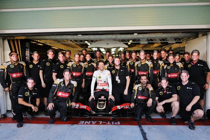 Romain Grosjean se despede da Lotus (Foto: Divulgação)