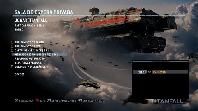 Titanfall: como comprar cartas de armas e equipamentos usando os créditos do game no Mercado Negro (Foto: Reprodução/Murilo Molina)