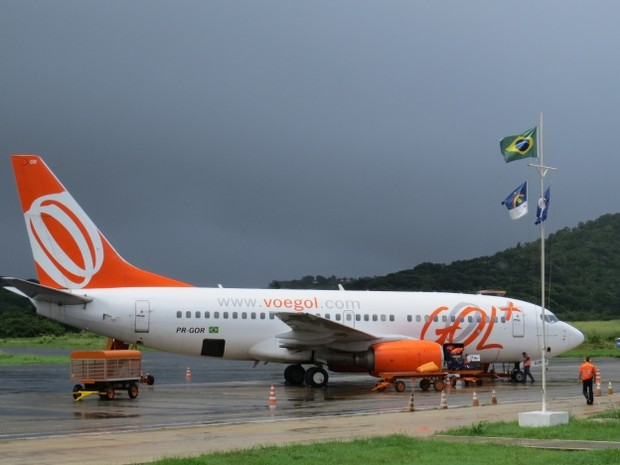 Avião da Gol (Foto: Ana Clara Marinho/TV Globo)