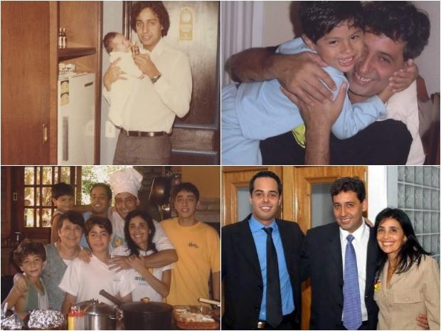 Sebastião Melo em fotos com amigos e a família (Foto: Sebastião Melo/Arquivo pessoal)