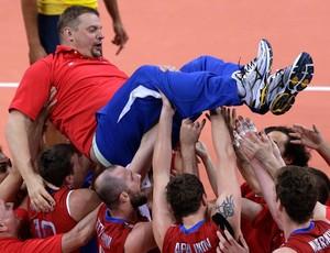 vôlei Vladimir Alekno treinador da rússia londres 2012 (Foto: Agência AP)