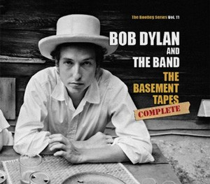 "Capa da caixa de CDs ""The Basement Tapes Complete"" de Bob Dylan"