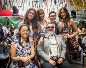A família japonesa da novela Sol Nascente  (Foto: Globo/João Miguel Júnior)