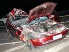 Acidente entre carro e caminhão deixa 6 pessoas feridas em São Carlos, SP