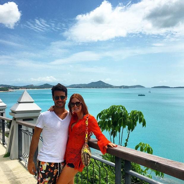 Marina Ruy Barbosa com o namorado, Xandinho Negrão, em Koh Samui, na Tailândia (Foto: Instagram/ Reprodução)