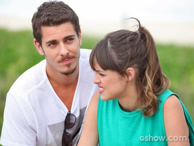 Sacha Bali e Agatha Moreira são o casal Murilo e Giselle (Foto: Pedro Curi/ TV Globo)