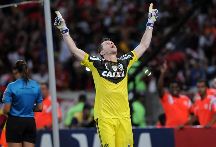 Paulo Victor Flamengo x Coritiba (Foto: André Durão / Globoesporte.com)