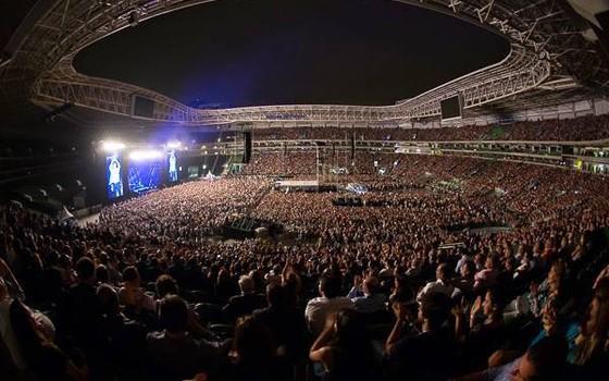Show de Paul McCartney no Allianz Parque, estádio do Palmeiras (Foto: Reprodução / Facebook)