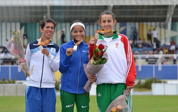 Tatiele ganha ouro no  Ibero Americano, Atletismo (Foto: Marcelo Scwarcfiter)