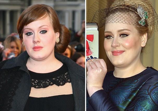 Ficamos impressionadas com a mudança no rosto de Adele (Foto: Getty Images)
