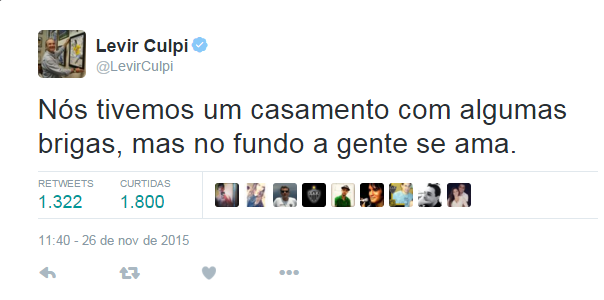 Via Twitter, Levir Culpi reiterou o amor que tem pelo Atlético-MG (Foto: Reprodução/Twitter)