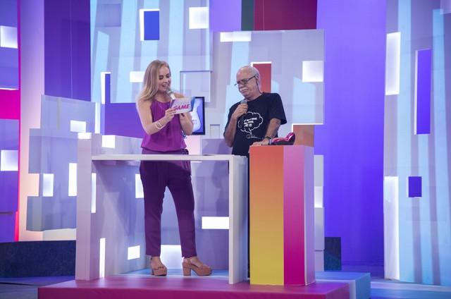 Angélica e Tonico Pereira gravam 'Video game' (Foto:  Globo/ Victor Pollak)
