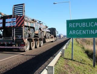 argentina exército brasil operação guarani (Foto: Comando Militar do Sul/Divulgação)