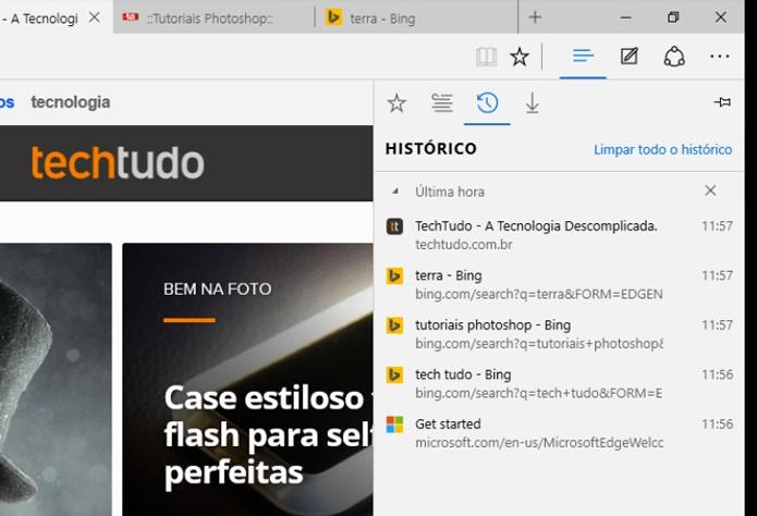 Caminho no Microsoft Edge (Foto: Reprodução/André Sugai)