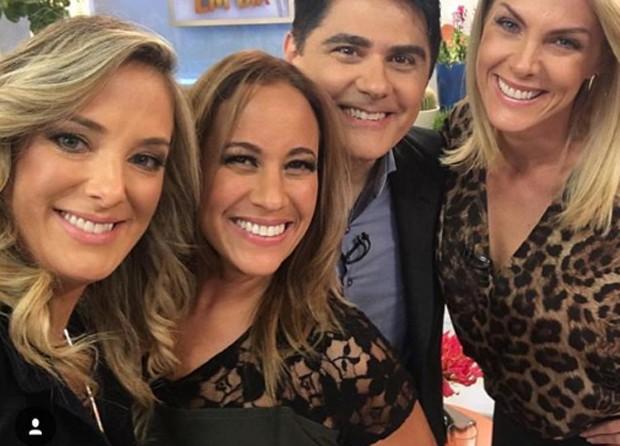 Ticiane Pinheiro, Renata Alves, César Filho e Ana Hickmann (Foto   Reprodução) ce23eeae2f