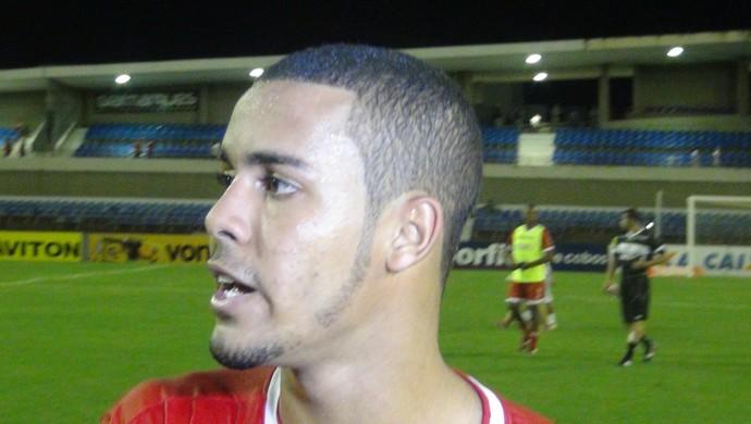 Maxwell, atacante do CRB (Foto: Denison Roma / GloboEsporte.com)