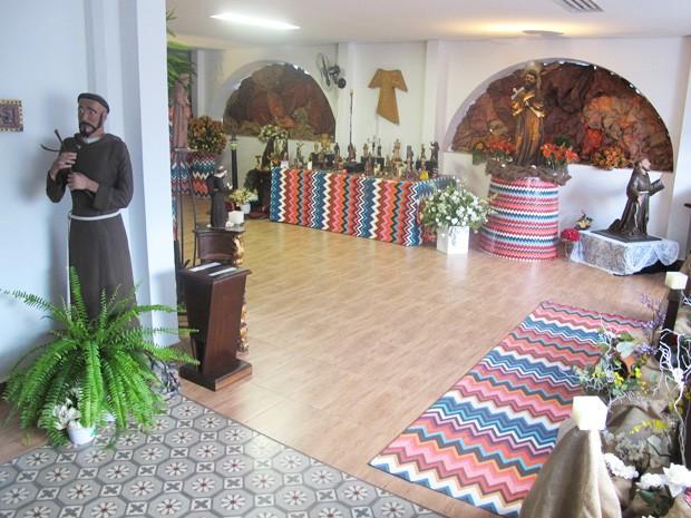 Exposição está no Santuário do Valongo, em Santos (Foto: Mariane Rossi/G1)