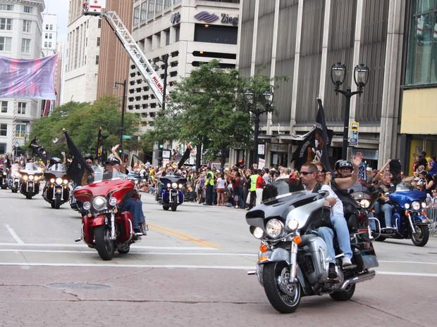Ao menos 6 mil motocicletas foram reunidas.  (Foto: Rafael Miotto/G1)