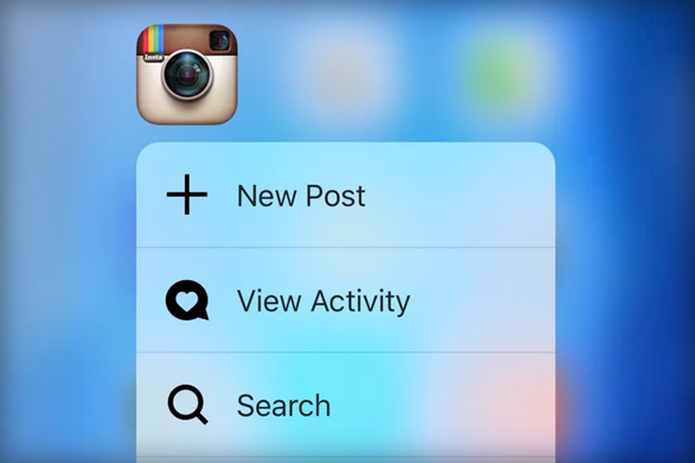 Instgram permite postar e visualizar fotos com 3D Touch (Foto: Reprodução/The Verge)