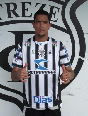 Charles Vagner novo volante do Treze (Foto: Silas Batista / Globoesporte.com/pb)
