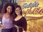 Juliana Alves relembra aulas de dança na infância com bailarina do Faustão