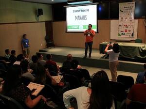 Startup weekend (Foto: Jamile Alves/G1 AM)