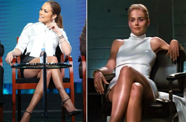 Jennifer Lopez e Sharon Stone (Foto: Getty Images/Reprodução)