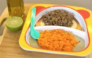 Papinha de lentilha e cenoura