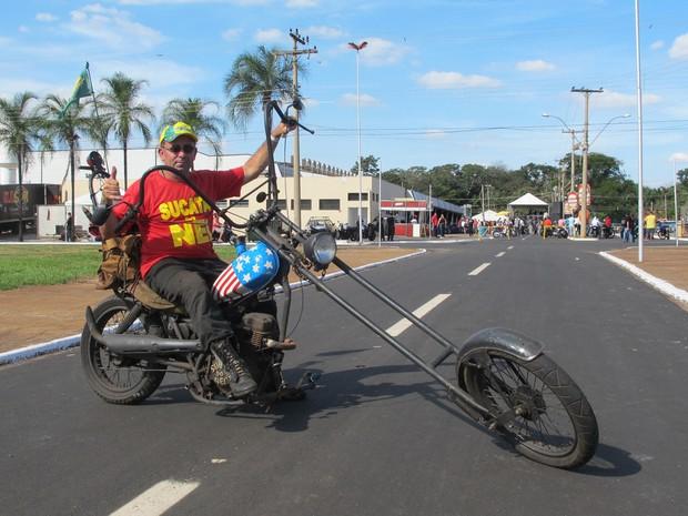 Encontro de motociclistas em Barretos tem motos exóticas  (Foto: Rafael Miotto/G1)