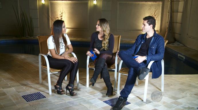 Pedro e Aline batem um papo com Anitta, que fala tudo sobre vida e carreira (Foto: reprodução EPTV)