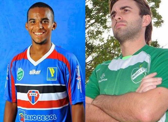 Eli e Fernando Salvan, reforços Caiçara (Foto: Reprodução/Facebook)