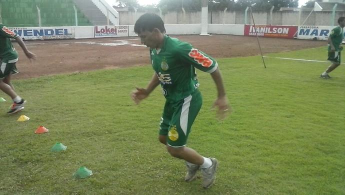 Louriva treina com o elenco do Gurupi  (Foto: Rogério Rodrigues/Divulgação)
