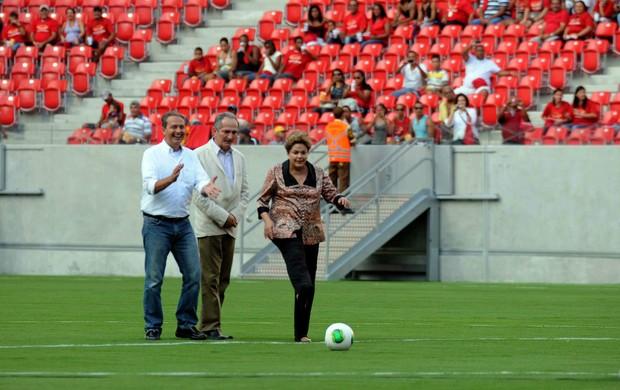 arena pernambuco evento-teste dilma rousseff eduardo campos aldo rebelo (Foto: Aldo Carneiro / Pernambuco Press)