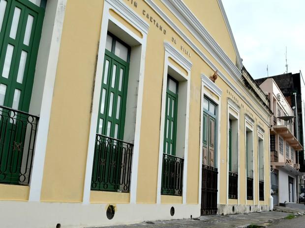 Museu Joaquim Caetano está fechado para reforma, em Macapá (Foto: Abinoan Santiago/G1)