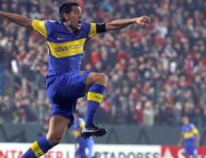 Riquelme, União Espanhola x Boca Juniors  (Foto: Reuters)