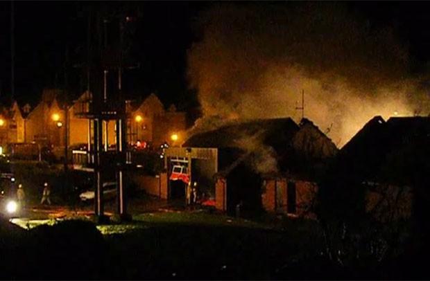 Incêndio atingiu Corpo de Bombeiros de North Berwick. (Foto: Reprodução)