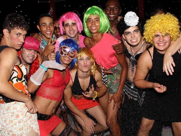 Bloco das Piranhas durante o carnaval de Estiva, no Sul de Minas (Foto: Cristovam Silva / VC no G1)