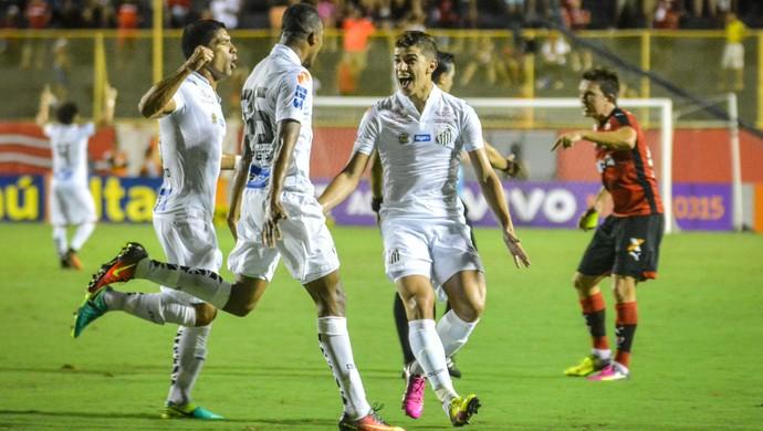 Gol Copete, Vitória x Santos (Foto: Agência Estado)