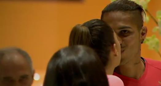 beijo de boa sorte (Reprodução SporTV)