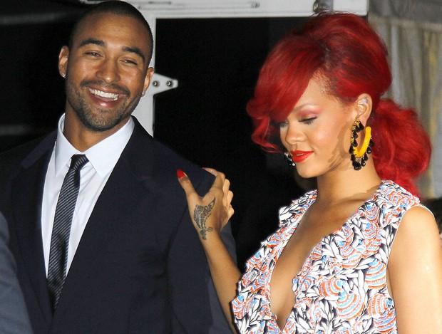Rihanna e Matt Kemp (Foto: Reprodução)
