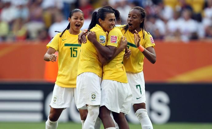 Marta gol Brasil (Foto: Getty Images)